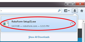 Double click the installation file from your Downloads Quick acess icon.