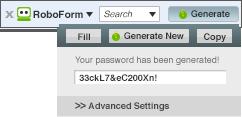 Accédez à vos mots de passe en utilisant RoboForm Partout.