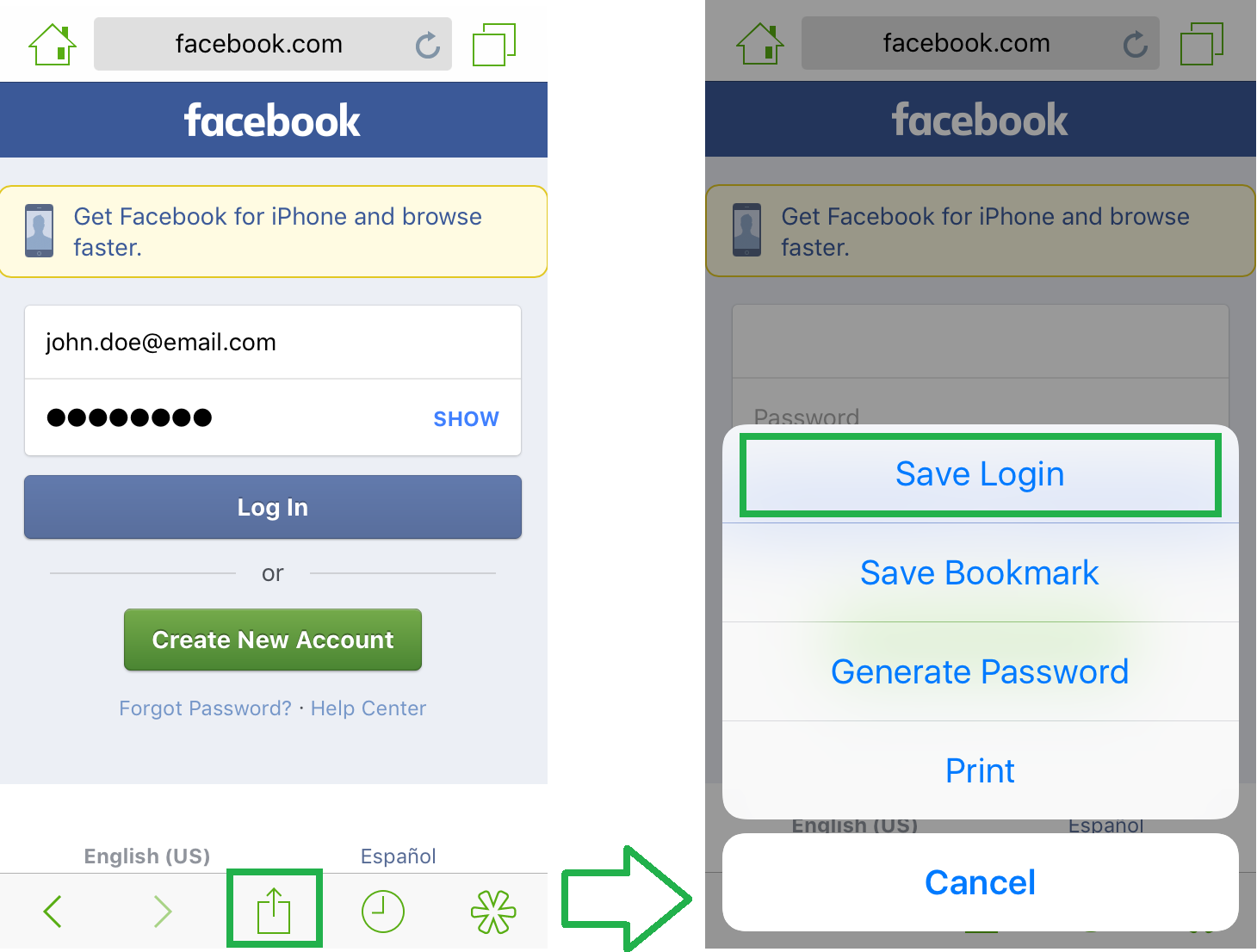 How to Manually Save a Login