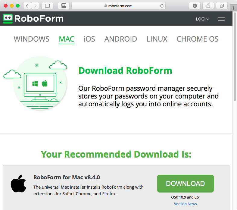 RoboForm Manual Mac