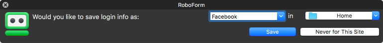 RoboForm Saving