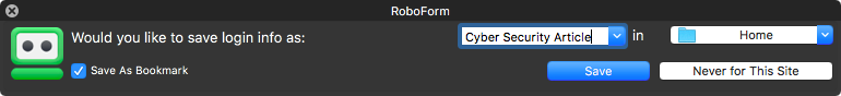 RoboForm Browser
