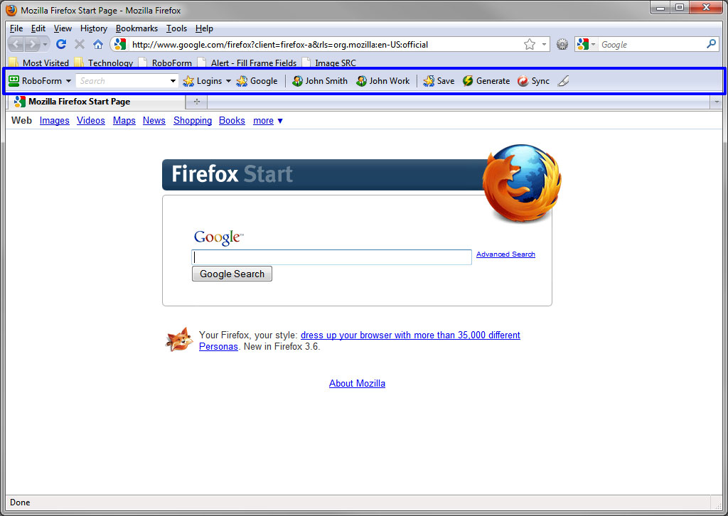 Mozilla Firefox 8 Portable Deutsch