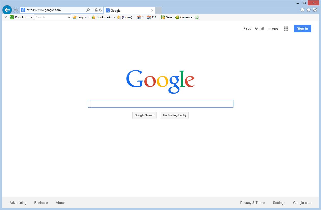 Internet explorer password manager roboform for Window explorer