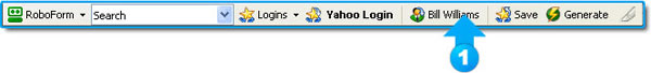 Click the newly created identity name from the toolbar