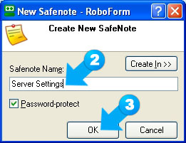 Choose a new name for your Safenote