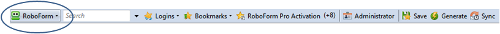 Click RoboForm on your toolbar